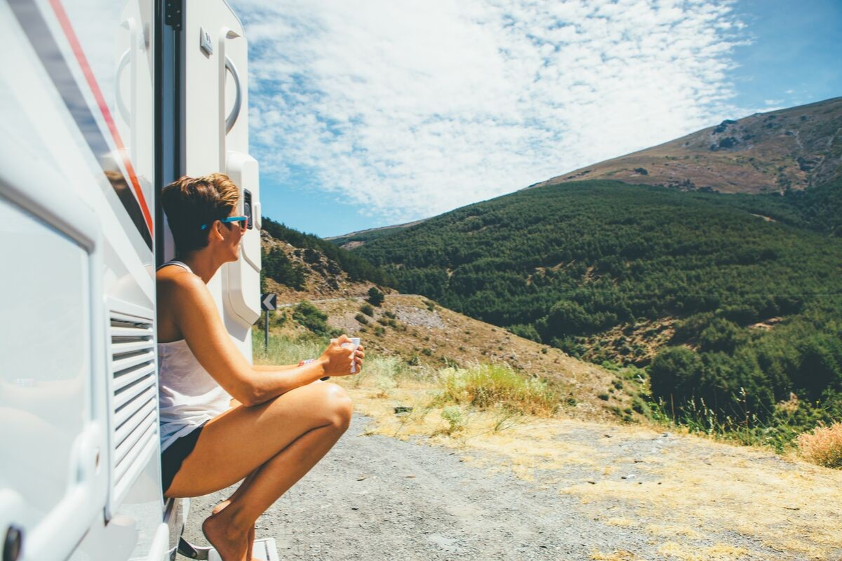 caravan travel in Australia is all about confident planning of caravan holidays like this woman has done