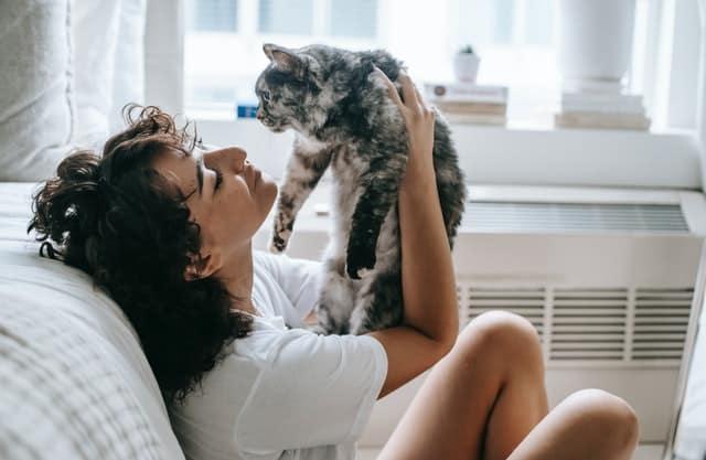 This cat mum is learning how to speak cat.
