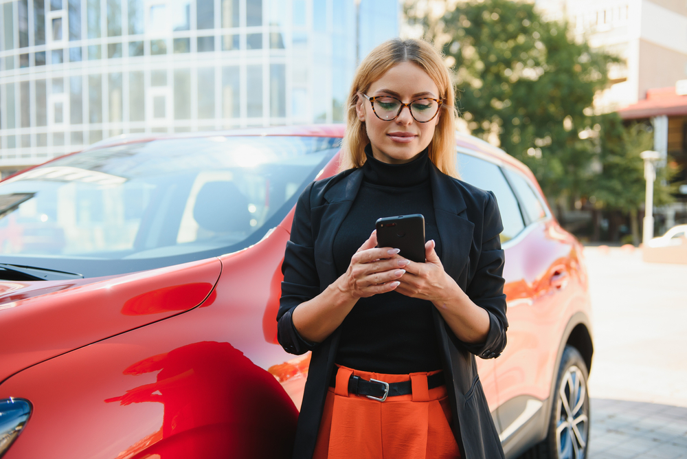 woman googles 'how much is my car worth?'